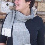 Diamond Charcoal Scarf