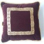 Embroidered Maroon Chain Cushion