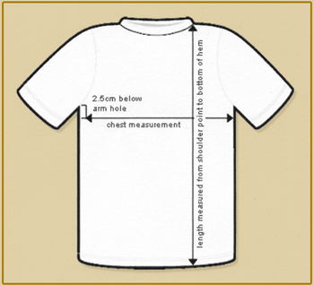 Womens T Shirts Size Chart Kim Doherty