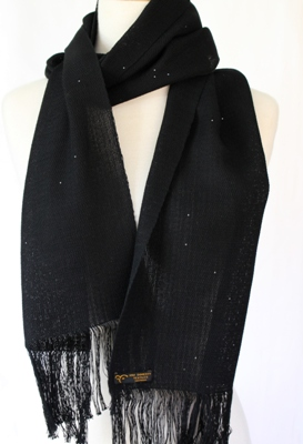 """Starry Night"" – Handwoven Scarf"