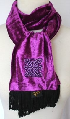 Embroidered Scarf – Celtic Square Dance